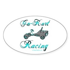 Go-Kart Racing Oval Decal