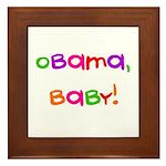 Obama, Baby! Framed Tile
