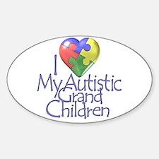 My Autistic Grandchildren Oval Decal