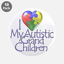 "My Autistic Grandchildren 3.5"" Button (10 pack)"
