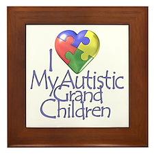 My Autistic Grandchildren Framed Tile