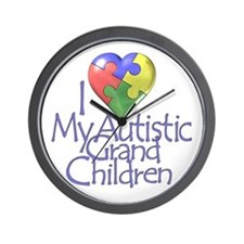 My Autistic Grandchildren Wall Clock