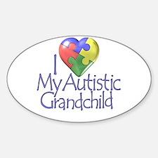 My Autistic Grandchild Oval Decal