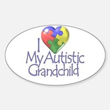 My Autistic Grandchild Oval Stickers