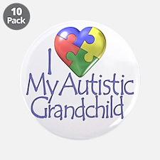 "My Autistic Grandchild 3.5"" Button (10 pack)"
