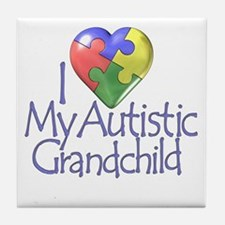 My Autistic Grandchild Tile Coaster