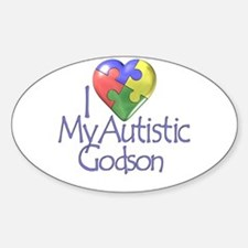 My Autistic Godson Oval Decal