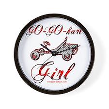 Go-Go-Kart Girl Wall Clock