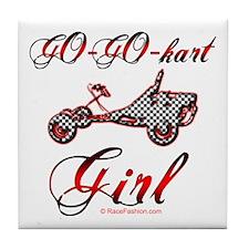 Go-Go-Kart Girl Tile Coaster