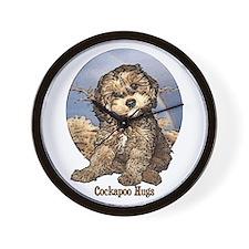 Starlo's Sugar 'n' Spice Cockapoo Hugs Wall Clock