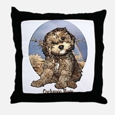 Starlo's Sugar 'n' Spice Cockapoo Hugs Throw Pillo