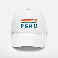 Retro Peru Palm Tree Baseball Baseball Cap