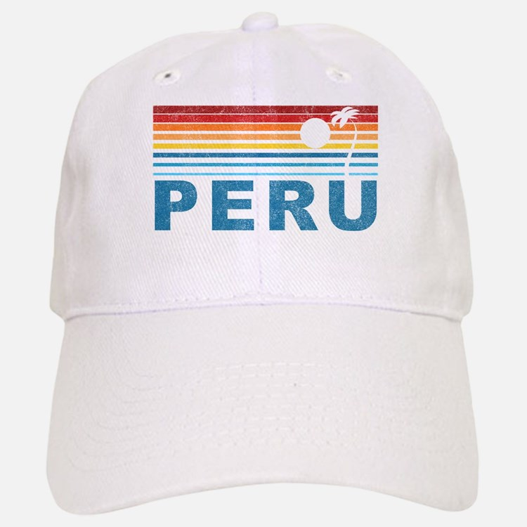 Retro Peru Palm Tree Baseball Baseball Cap