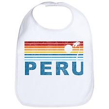Retro Peru Palm Tree Bib