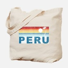 Retro Peru Palm Tree Tote Bag
