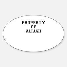 Property of ALIJAH Decal