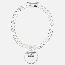 Property of ALIJAH Charm Bracelet, One Charm
