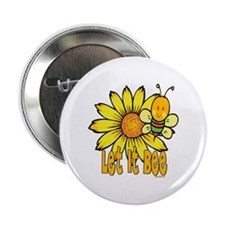 """Let It Bee! 2.25"""" Button (100 pack)"""