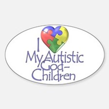 My Autistic GodChildren Oval Decal