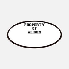 Property of ALISON Patch