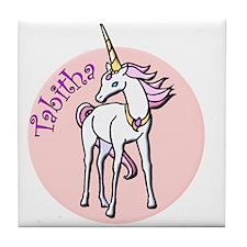 Tabitha Unicorn Tile Coaster