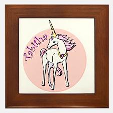 Tabitha Unicorn Framed Tile