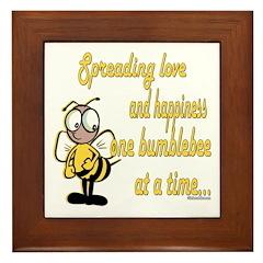 Spreading Love Bumblebees Framed Tile