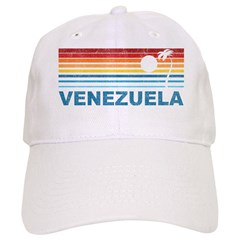 Retro Venezuela Palm Tree Baseball Cap