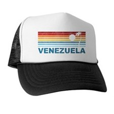 Retro Venezuela Palm Tree Trucker Hat