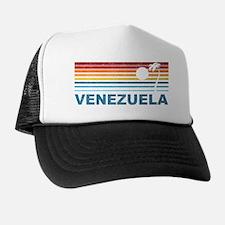 Retro Venezuela Palm Tree Trucker Hat
