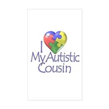 My Autistic Cousin Rectangle Stickers