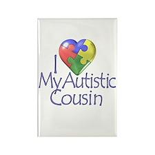 My Autistic Cousin Rectangle Magnet