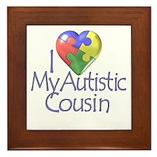 My Autistic Cousin Framed Tile