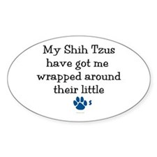 Wrapped Around Their Paws (Shih Tzu) Decal