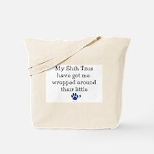 Wrapped Around Their Paws (Shih Tzu) Tote Bag