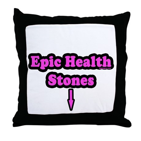 Epic Health Stones Throw Pillow
