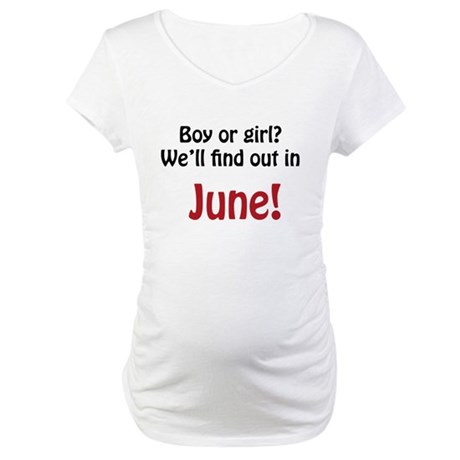 Boy or Girl: June Maternity T-Shirt