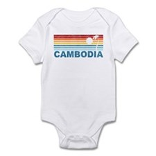 Retro Cambodia Palm Tree Infant Bodysuit