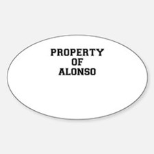 Property of ALONSO Decal