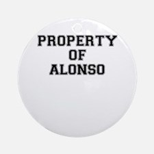 Property of ALONSO Round Ornament