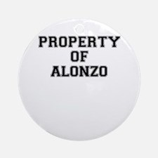 Property of ALONZO Round Ornament