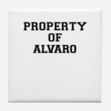 Property of ALVARO Tile Coaster