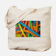 Rainbow colored licorice candy Tote Bag