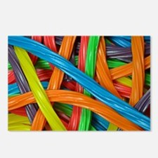 Rainbow colored licorice Postcards (Package of 8)