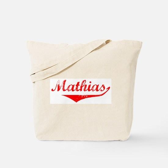 Mathias Vintage (Red) Tote Bag