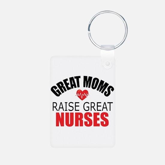 Moms Raise Nurses Keychains