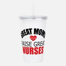 Moms Raise Nurses Acrylic Double-wall Tumbler