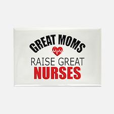 Moms Raise Nurses Rectangle Magnet (100 pack)