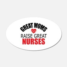Moms Raise Nurses Wall Decal