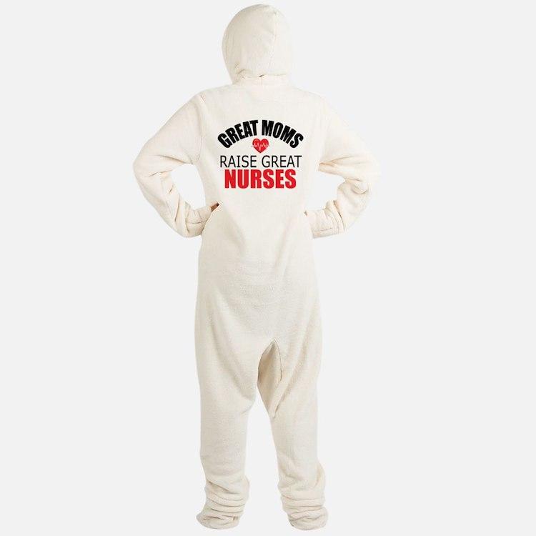 Moms Raise Nurses Footed Pajamas